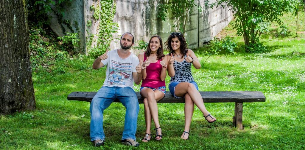 Portugalski prostovoljci: Fernando, Raquel in Sandra